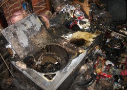 Laundry Room - Origin of Fire